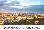 aerial view of auckland skyline ... | Shutterstock . vector #1308253762