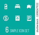 set of 6 hotel icons set....   Shutterstock . vector #1308267922