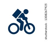 isolated bicycle icon symbol on ...   Shutterstock . vector #1308267925