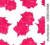 vector pattern of pink flower... | Shutterstock .eps vector #1308315688