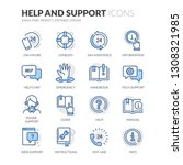 simple set of help and support... | Shutterstock .eps vector #1308321985