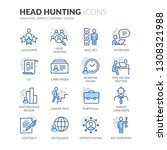simple set of head hunting... | Shutterstock .eps vector #1308321988