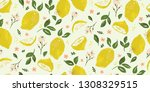 bright summer lemon fruit... | Shutterstock .eps vector #1308329515
