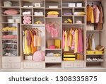 stylish clothes  shoes and... | Shutterstock . vector #1308335875