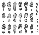 Shoes Footprint Silhouette....