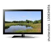 illustration modern lcd monitor ... | Shutterstock . vector #130834856