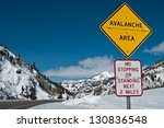 Avalanche Area Sign   A...