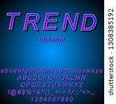 vector image alphabet in trend...   Shutterstock .eps vector #1308385192