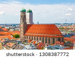 aerial view of munich to... | Shutterstock . vector #1308387772