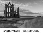 Whitby Abbey Shot In Black And...