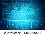 2d rendering cloud computing | Shutterstock . vector #1308395818