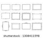 hand drawn frames set. cartoon...   Shutterstock .eps vector #1308411598