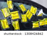 A Car Has Numerous Yellow...