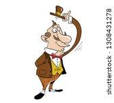 friendly middle age gentleman...   Shutterstock .eps vector #1308431278