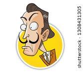 salvador dali caricature...   Shutterstock .eps vector #1308431305