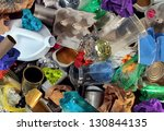 recycling garbage and reusable... | Shutterstock . vector #130844135