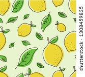 hand drawn overlapping fresh... | Shutterstock .eps vector #1308459835