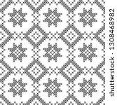 cross stitch  seamless... | Shutterstock .eps vector #1308468982