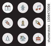 new icons colored line set with ... | Shutterstock .eps vector #1308473308