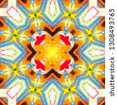 colorful pattern for textile ... | Shutterstock . vector #1308493765