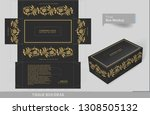 vintage golden elements on... | Shutterstock .eps vector #1308505132