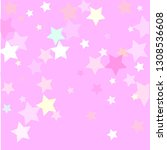 pastel colorful stars on pinky... | Shutterstock .eps vector #1308536608