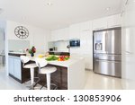modern kitchen with groceries | Shutterstock . vector #130853906