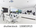 luxurious penthouse interior | Shutterstock . vector #130853915