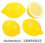 fresh lemon isolated on white...   Shutterstock . vector #1308543622