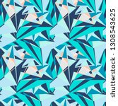 abstract seamless pattern with... | Shutterstock .eps vector #1308543625