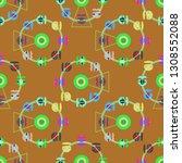 ferris wheel color seamless... | Shutterstock . vector #1308552088