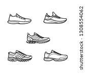 set of men's running shoes... | Shutterstock .eps vector #1308554062