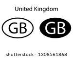 united kingdom country code... | Shutterstock .eps vector #1308561868