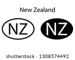 new zealand  country code icon. ... | Shutterstock .eps vector #1308574492