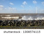 dutch sea with off shore wind...   Shutterstock . vector #1308576115