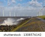 dutch sea with off shore wind...   Shutterstock . vector #1308576142