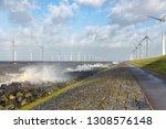 dutch sea with off shore wind...   Shutterstock . vector #1308576148