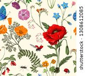 Summer Floral Seamless Pattern...