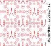seamless pattern with zipper ...   Shutterstock .eps vector #1308617452