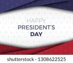 happy presidents day modern...   Shutterstock .eps vector #1308622525