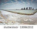 Broken Ice On Frozen River In...