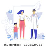 medicine concept with doctor... | Shutterstock .eps vector #1308629788