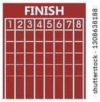 finish line on running track.... | Shutterstock .eps vector #1308638188