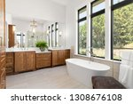 master bathroom interior in new ... | Shutterstock . vector #1308676108