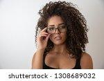 portrait of young beautiful...   Shutterstock . vector #1308689032