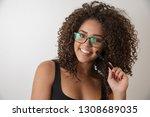 portrait of young beautiful...   Shutterstock . vector #1308689035