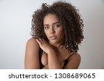 beauty portrait of african...   Shutterstock . vector #1308689065