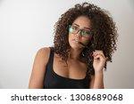 portrait of young beautiful...   Shutterstock . vector #1308689068