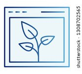 browser with leaf flat icon....