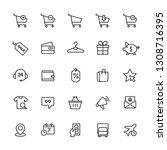 e commerce icons set. editable... | Shutterstock .eps vector #1308716395